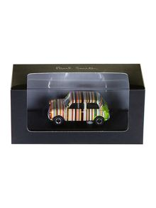 Mini car in plastic case ornament