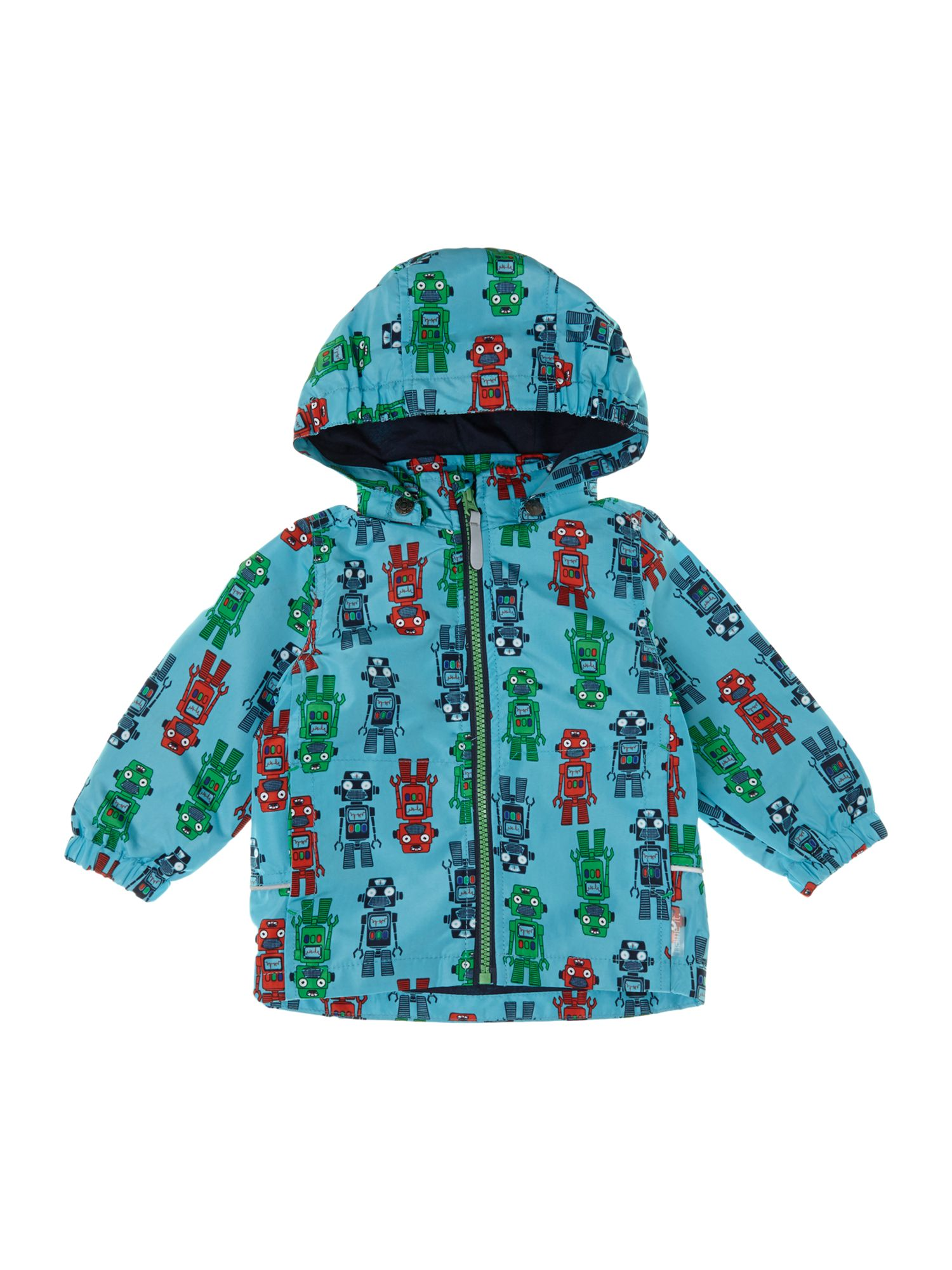Boys robot jacket with detachable hood