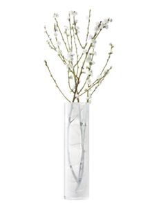 Linen vase height 45cm in white