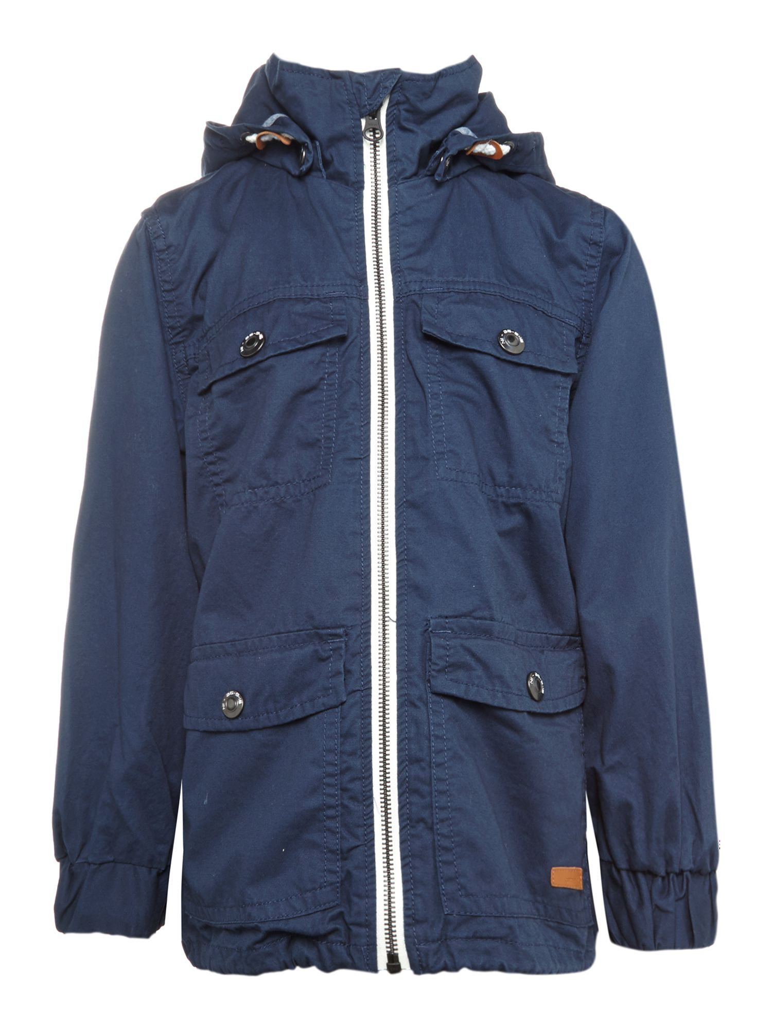 Boys longline mac with detachable hood