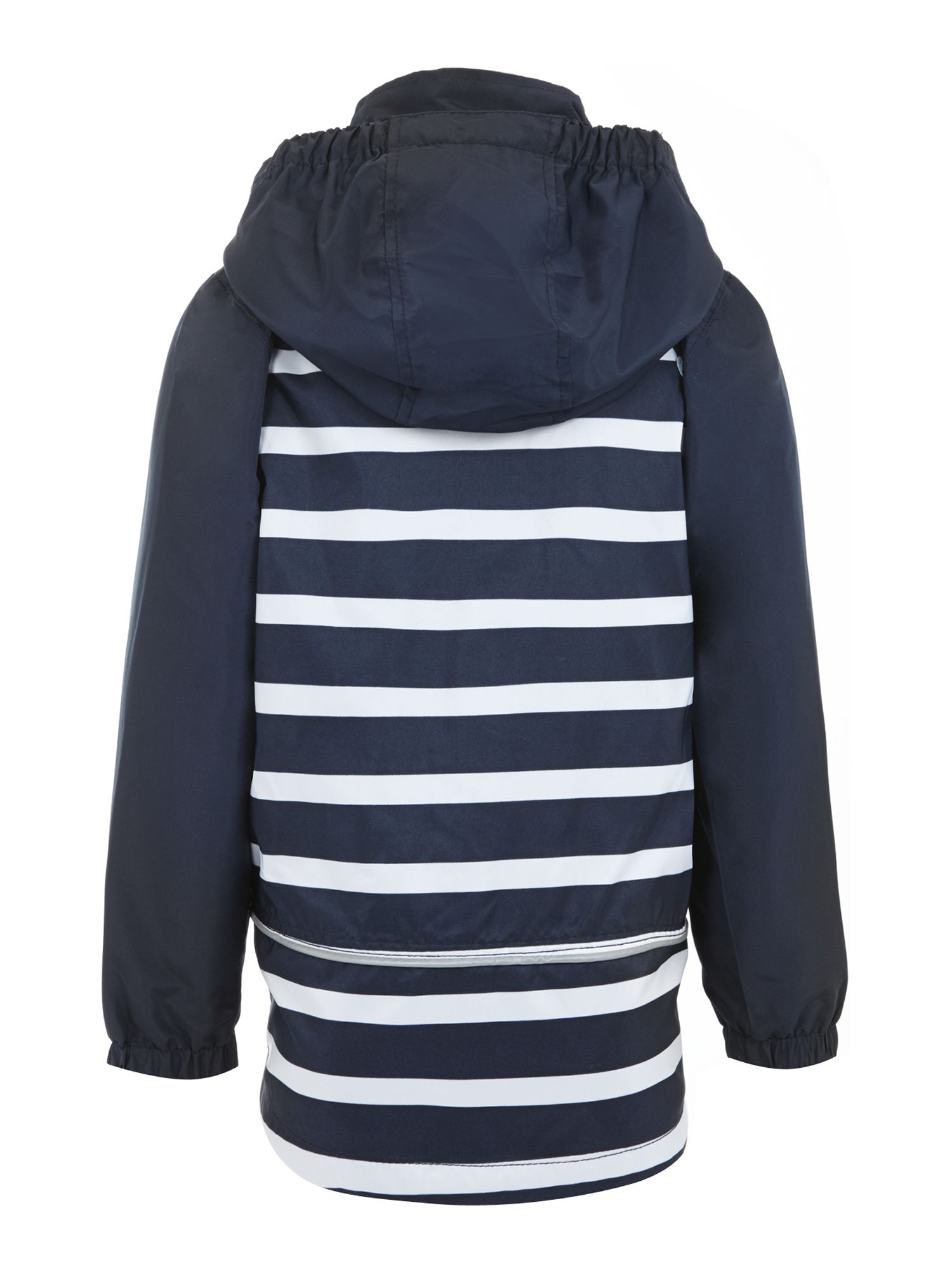 Boys striped jacket with detachable hood