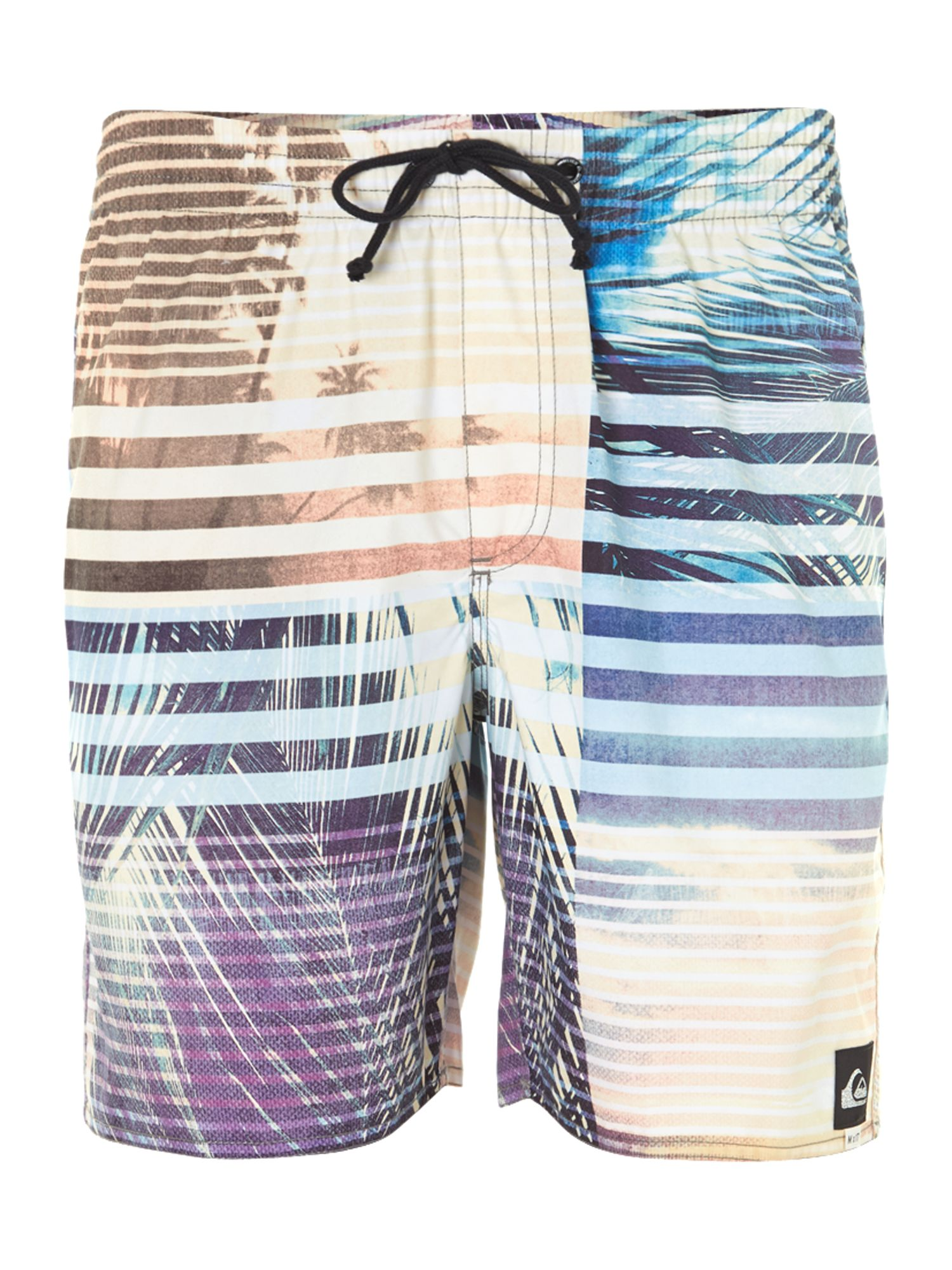 Palm stripe swim short