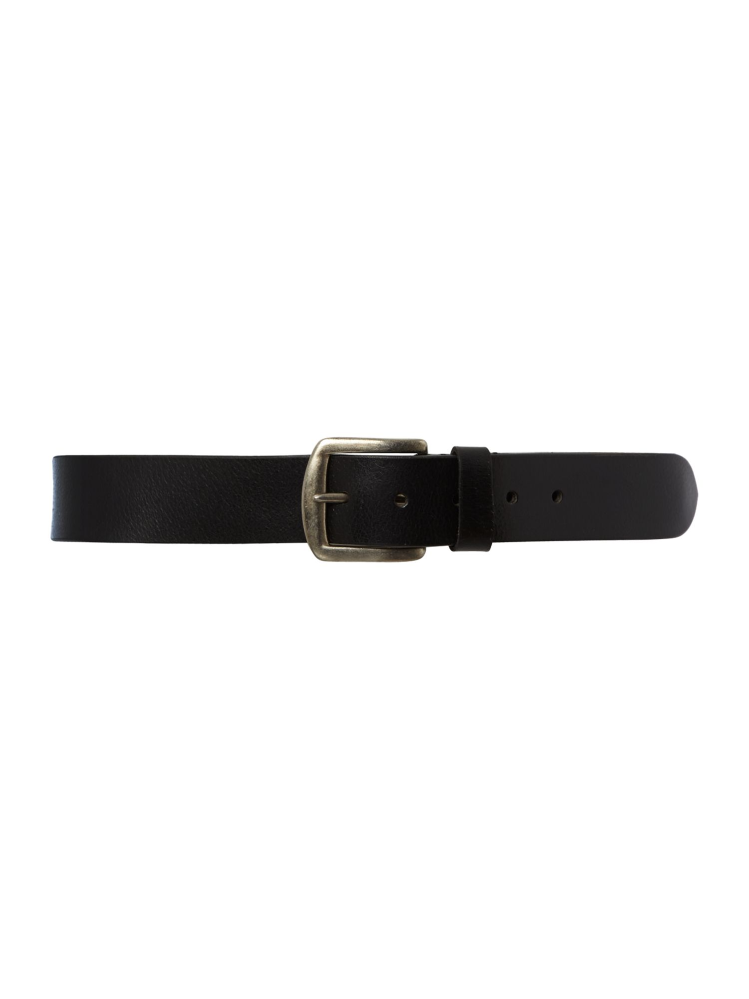 Leather crunch belt