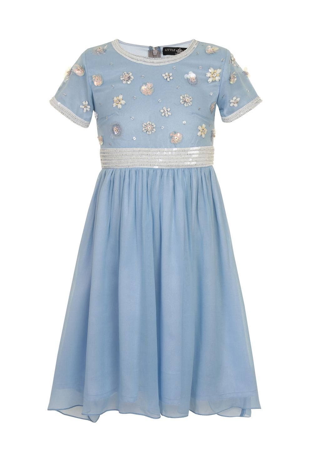 Girls embellished bodice dress