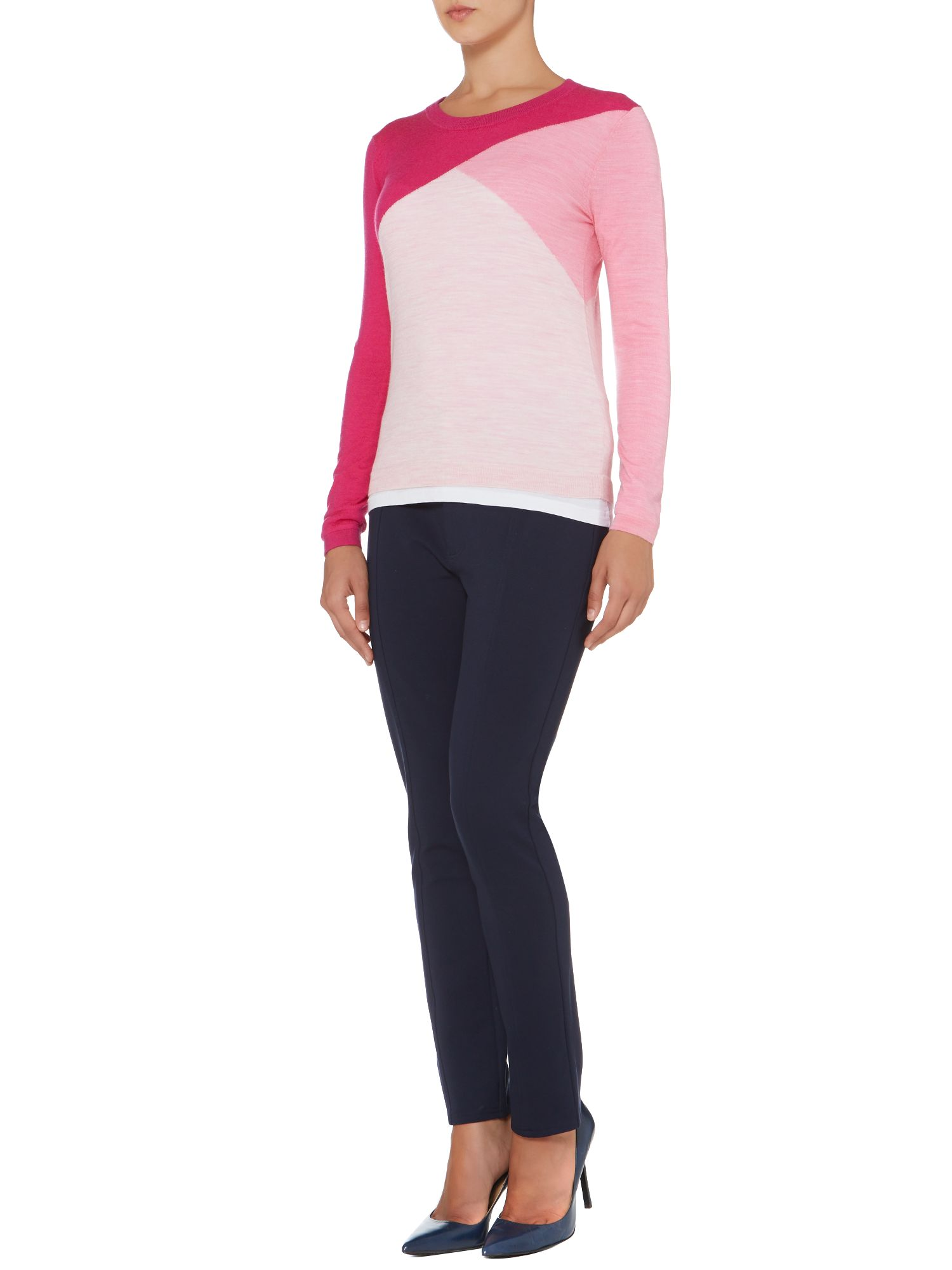 Merino colourblock jumper