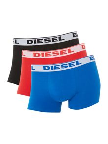 Diesel 3 pack solid underwear trunk