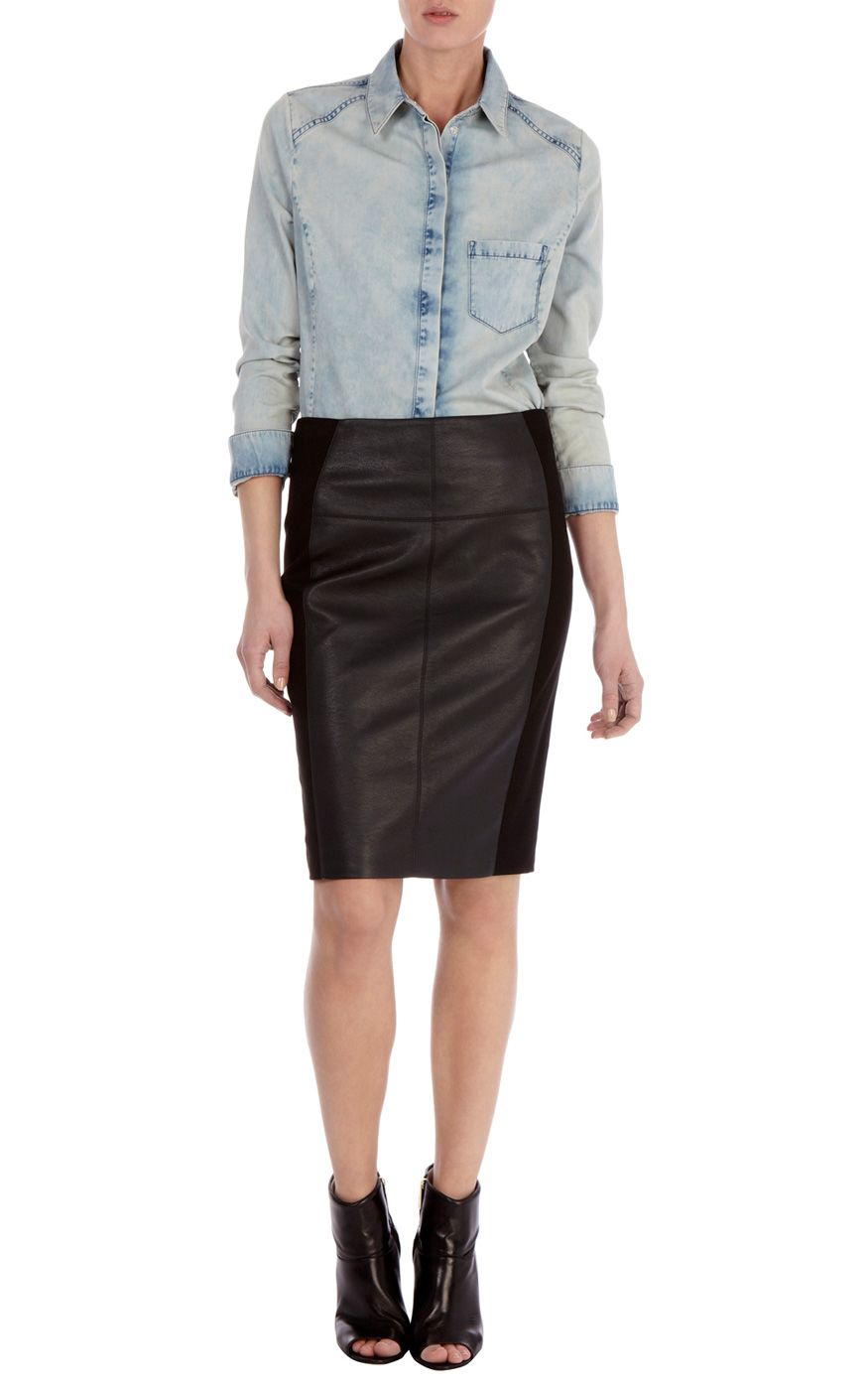 Modern Tailored Ponte Skirt