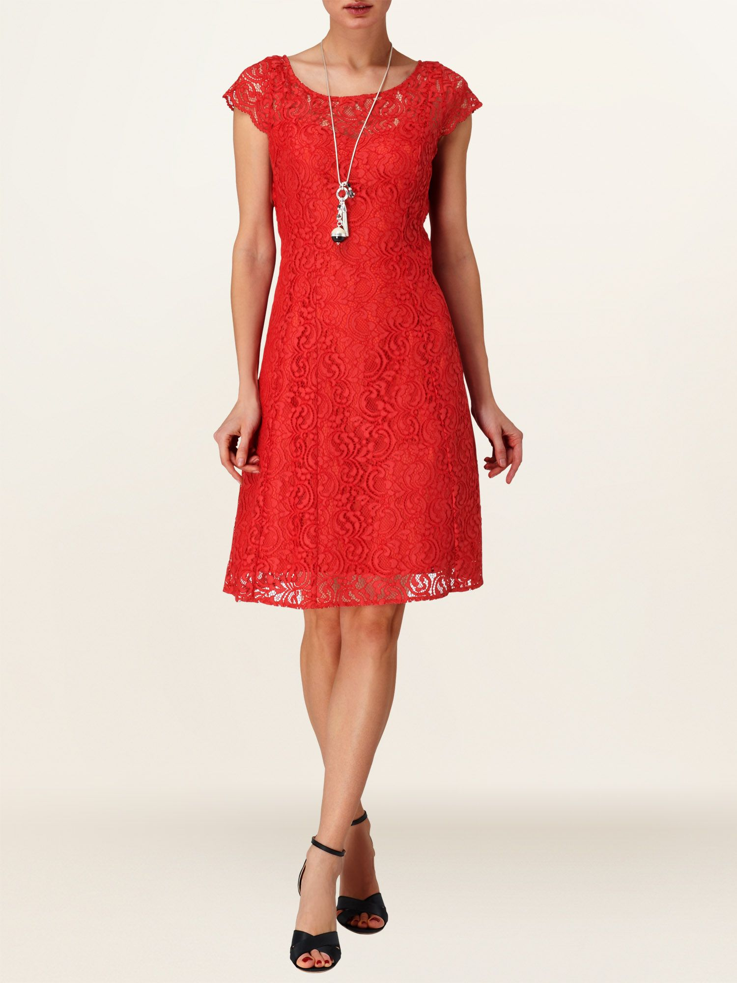 Lettie lace fit and flare dress