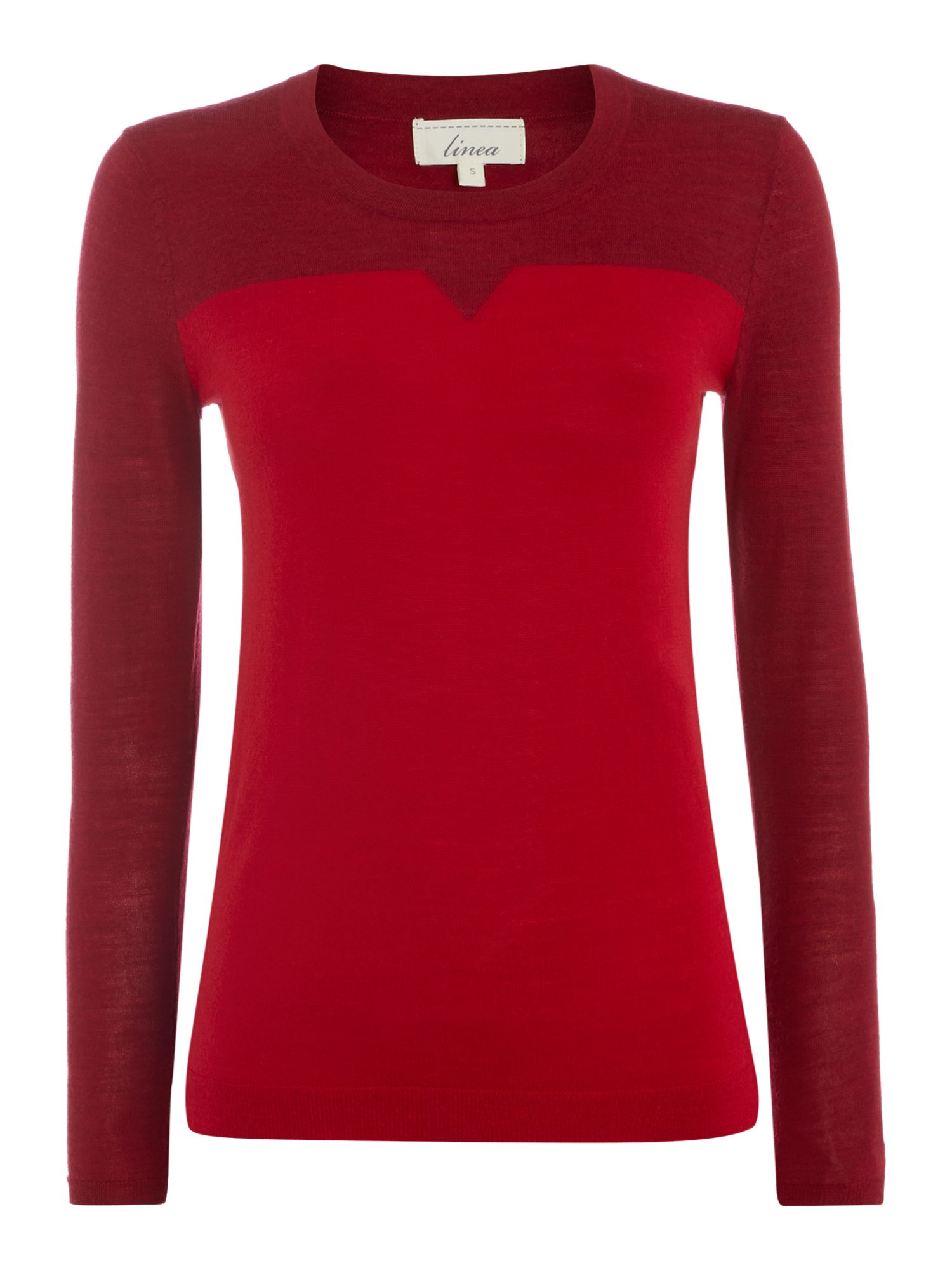 Merino notch neck jumper