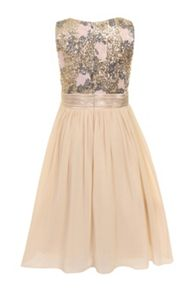 Girls sequin bodice dress