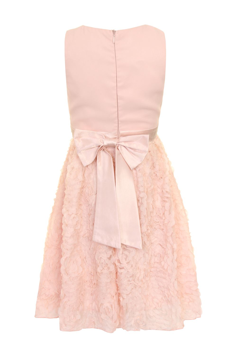 Girls ruffle dress with beaded waistband