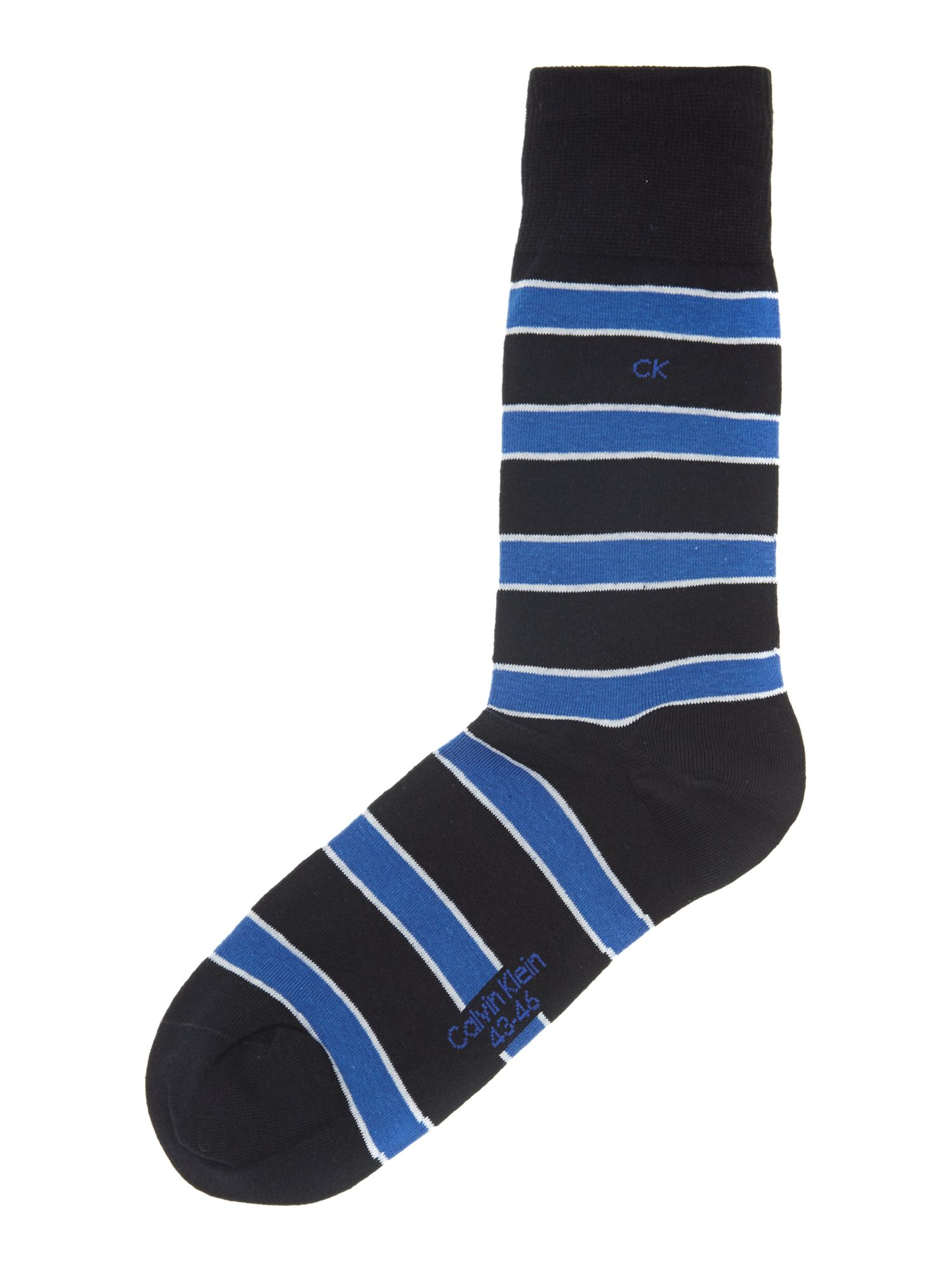 2 pack multistripe and plain sock