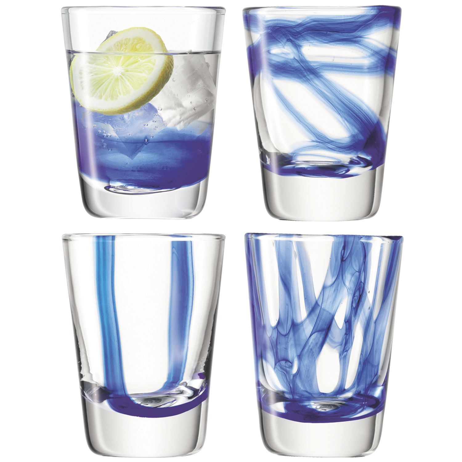 Cirro Tumbler 300ml Cobalt set of 4