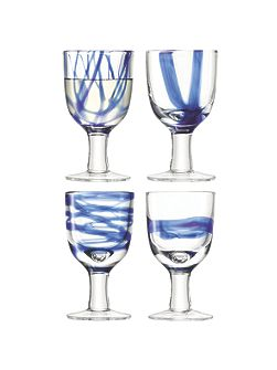 Cirro Wine Glass Cobalt set of four