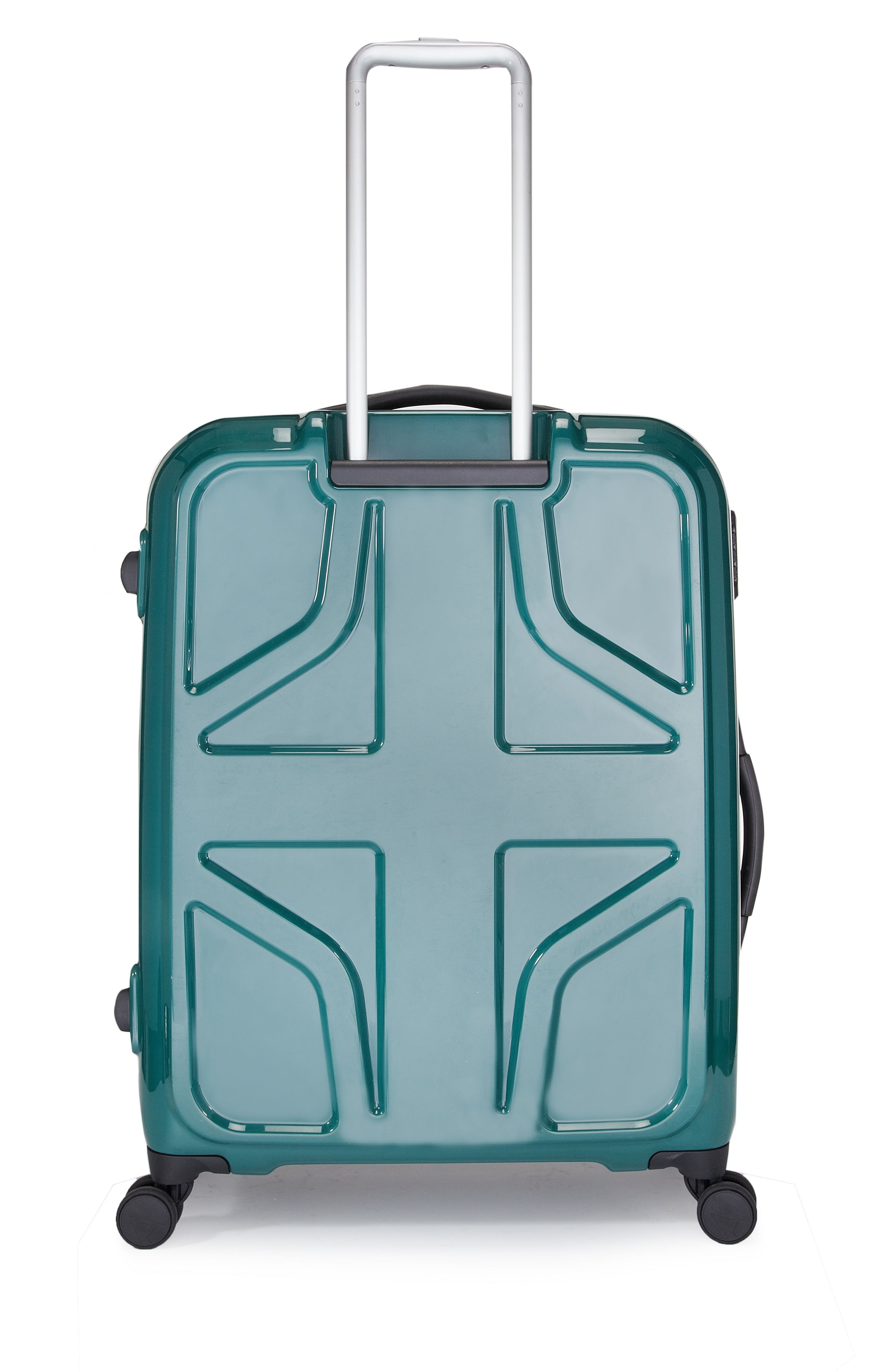 Sterling 4 wheel green hard large suitcase
