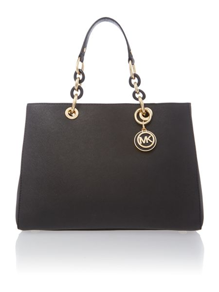 Cynthia black ew tote bag