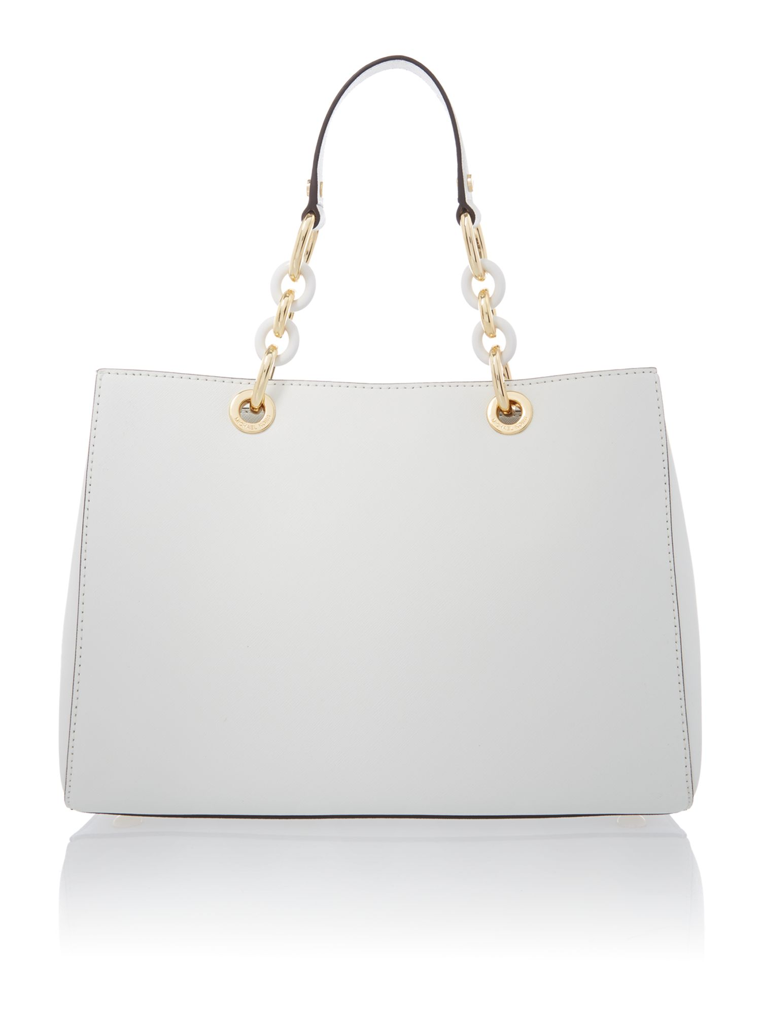 Cynthia white ew tote bag