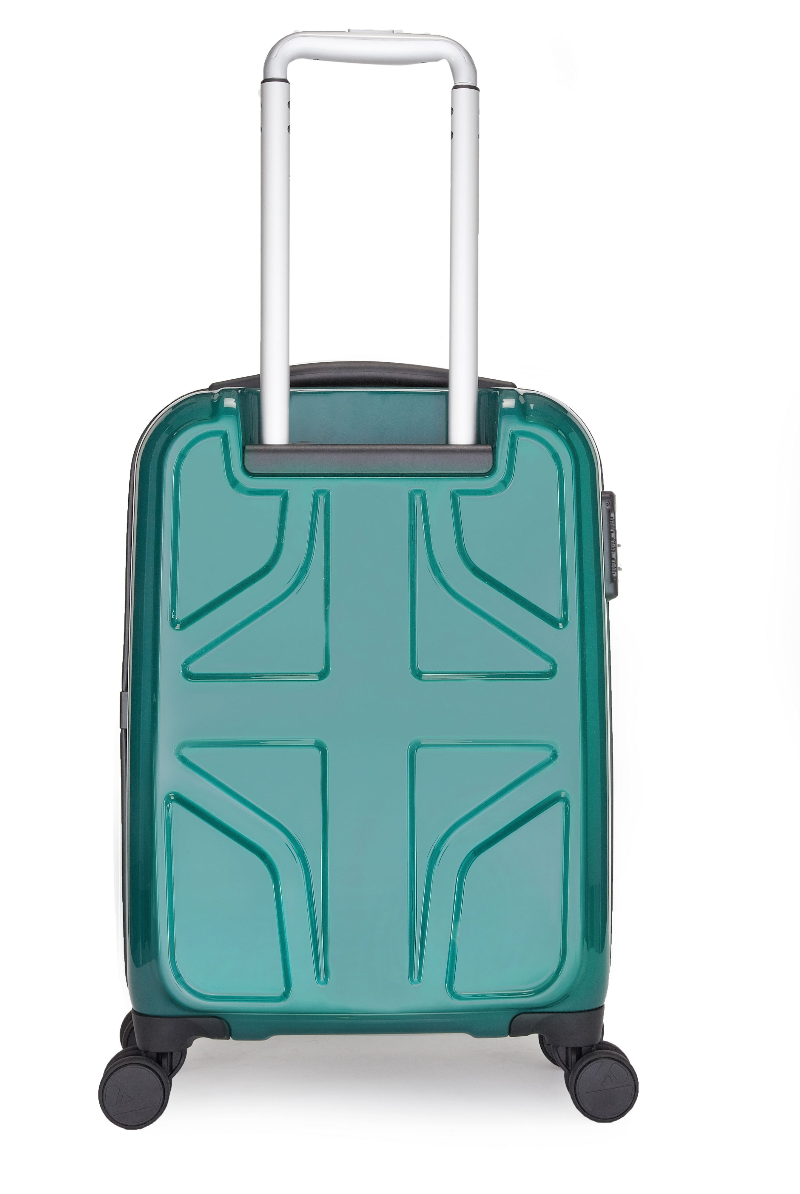 Sterling 4 wheel green hard cabin suitcase