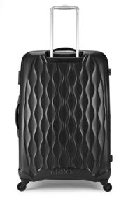 Antler Liquis embossed black 4 wheel hard large suitcase