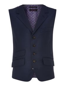 Ted Baker Foxdale Sterling Regular Fit Pindot Waistcoat
