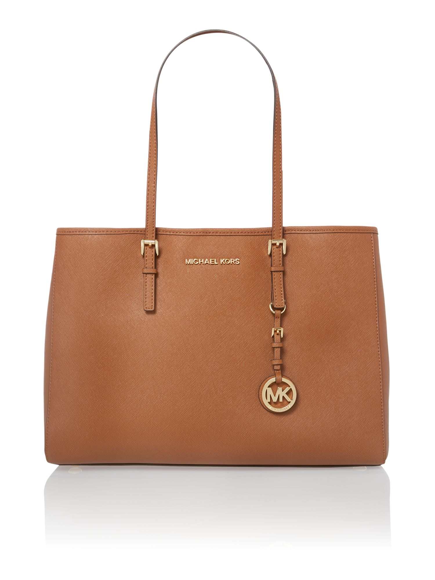 Jet Set Travel tan medium tote bag