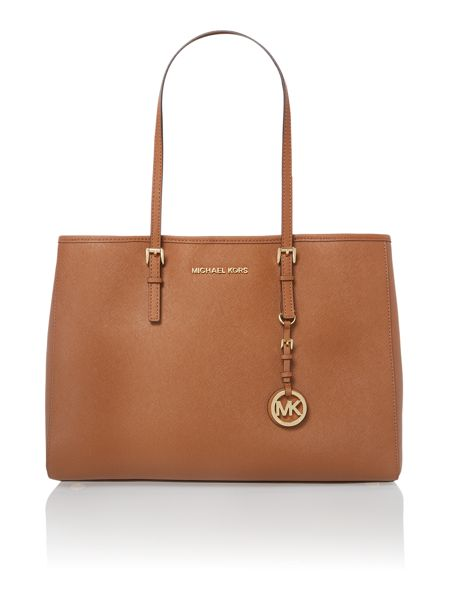 Michael Kors Jet Set Travel tan medium tote bag