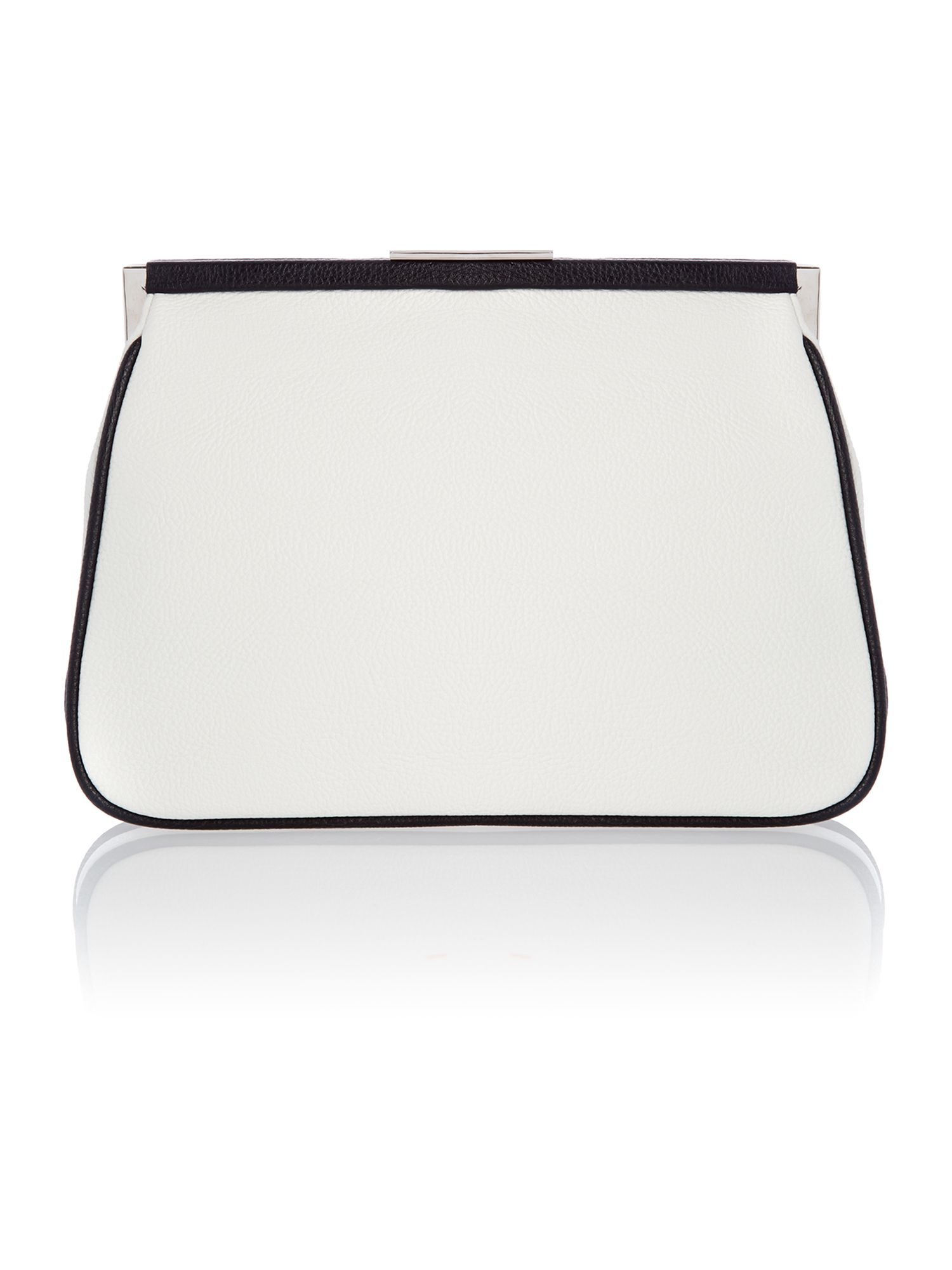 Multi-coloured frame clutch bag