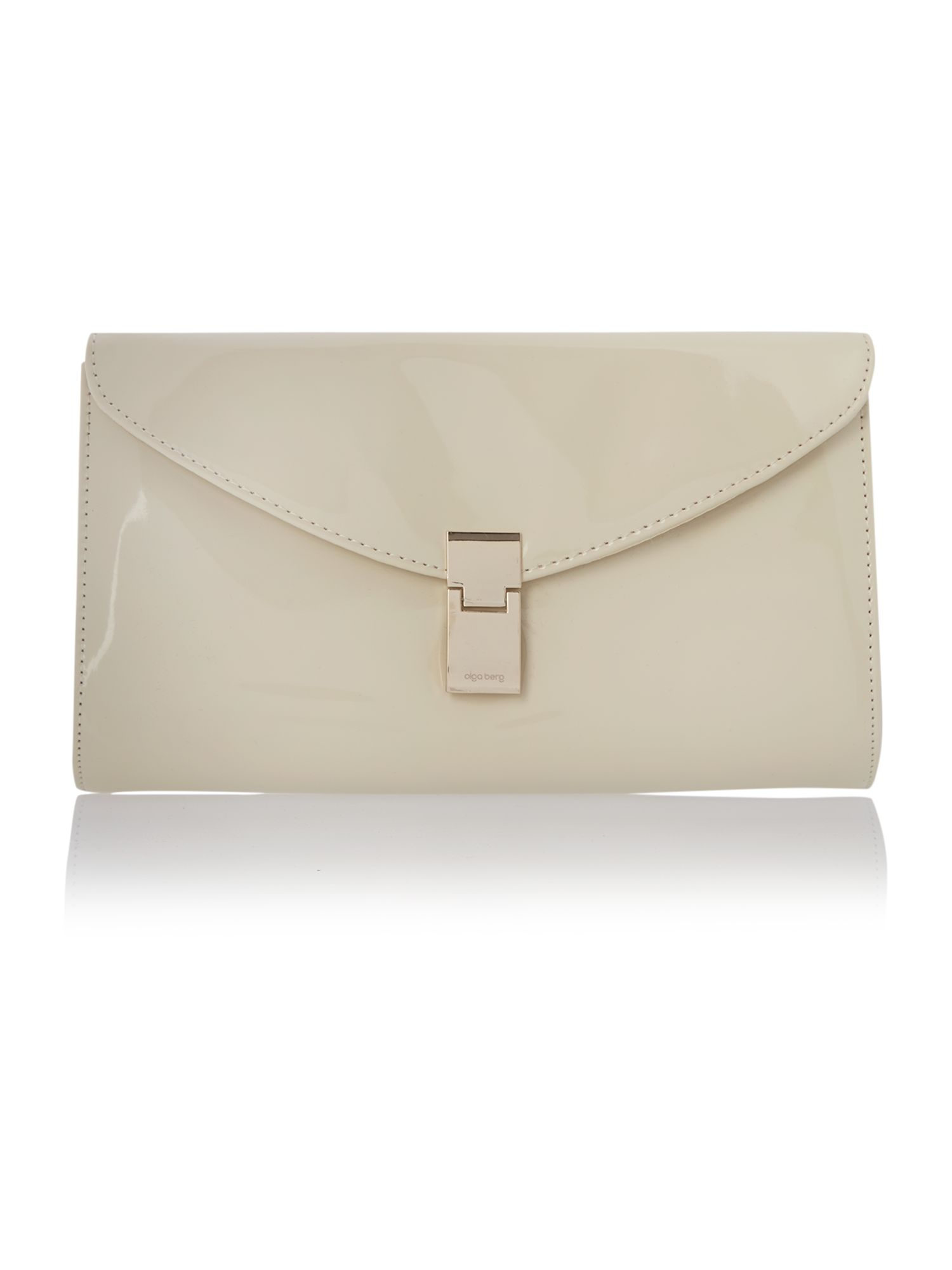 Neutral patent clutch bag