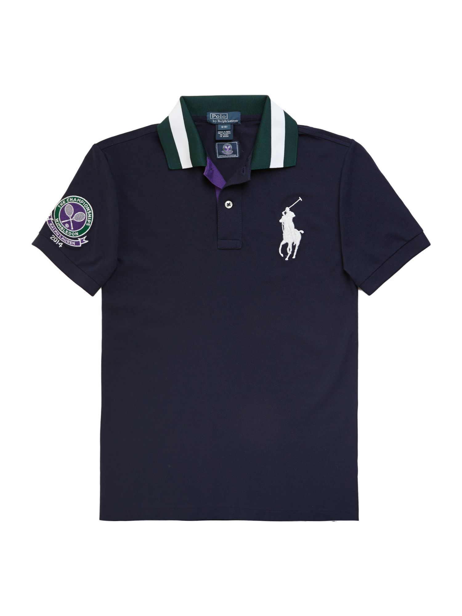 Kids official Wimbledon ball boy polo shirt
