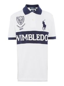 Kids Wimbledon crest polo shirt