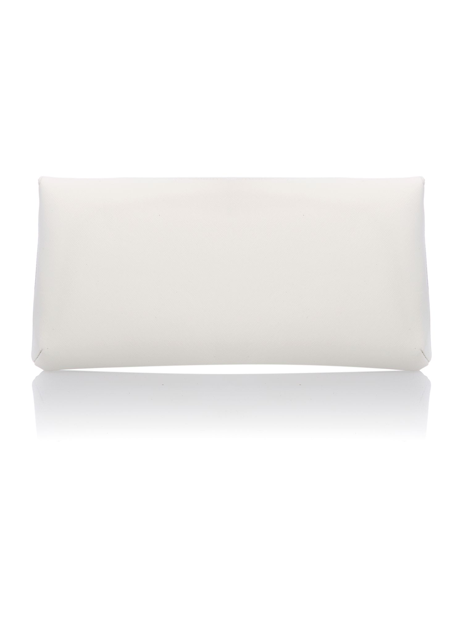Cream patent envelope clutch bag