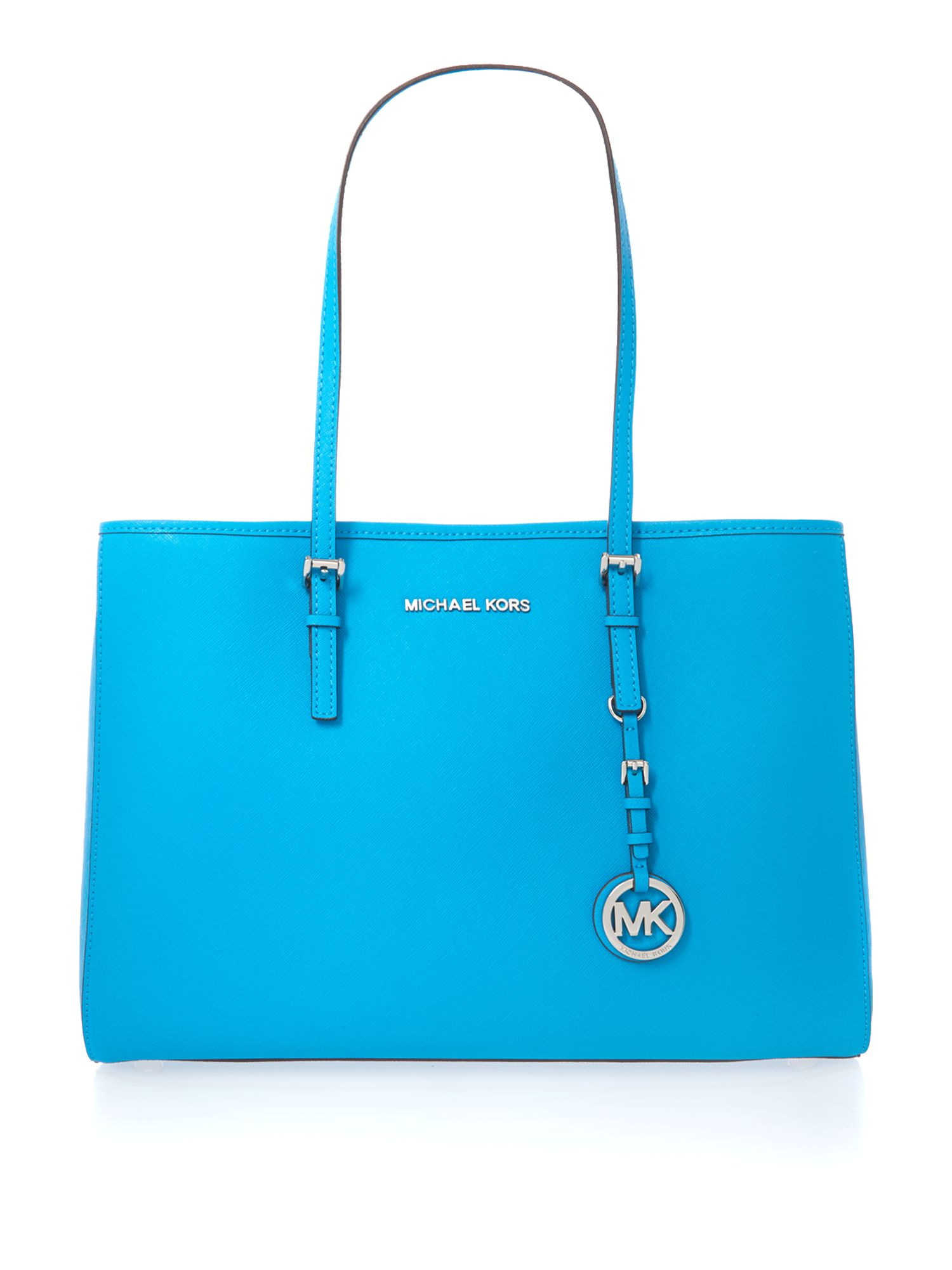 Jet Set Travel blue medium tote bag