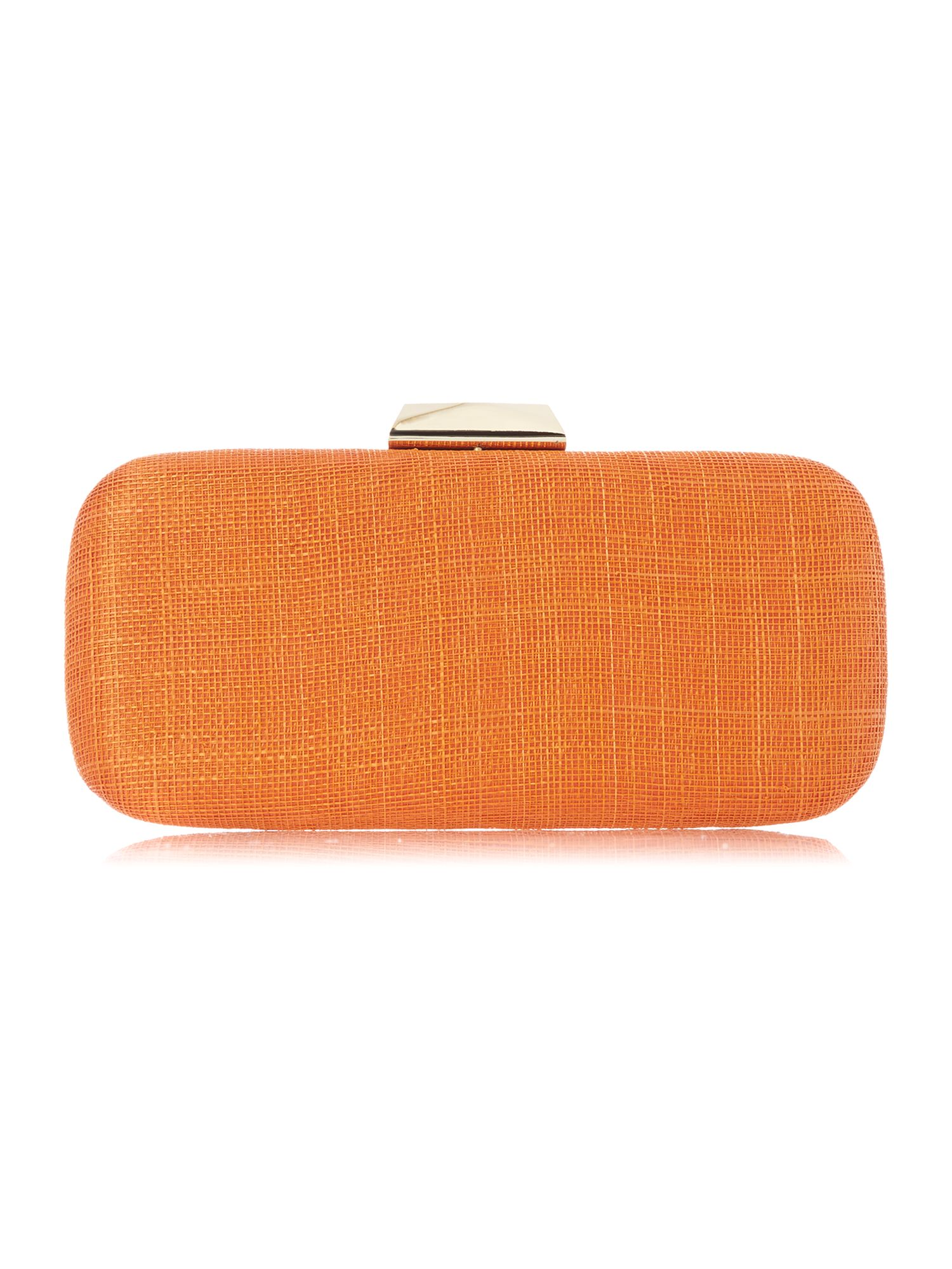 Multi-coloured clutch bag