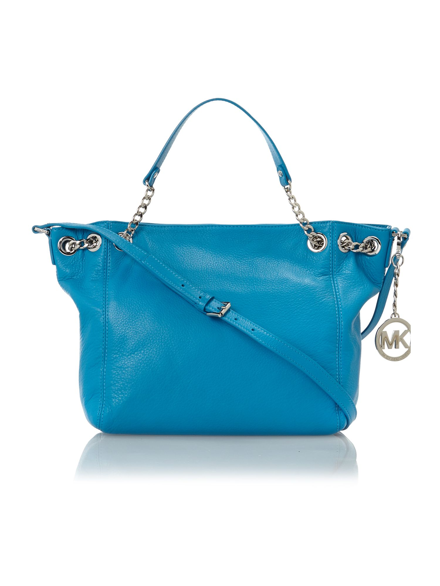 Jet Set Chain blue tote bag