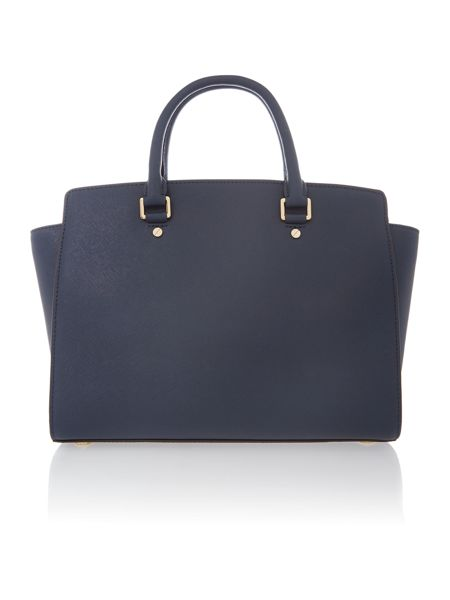 Michael Kors Selma navy tote bag