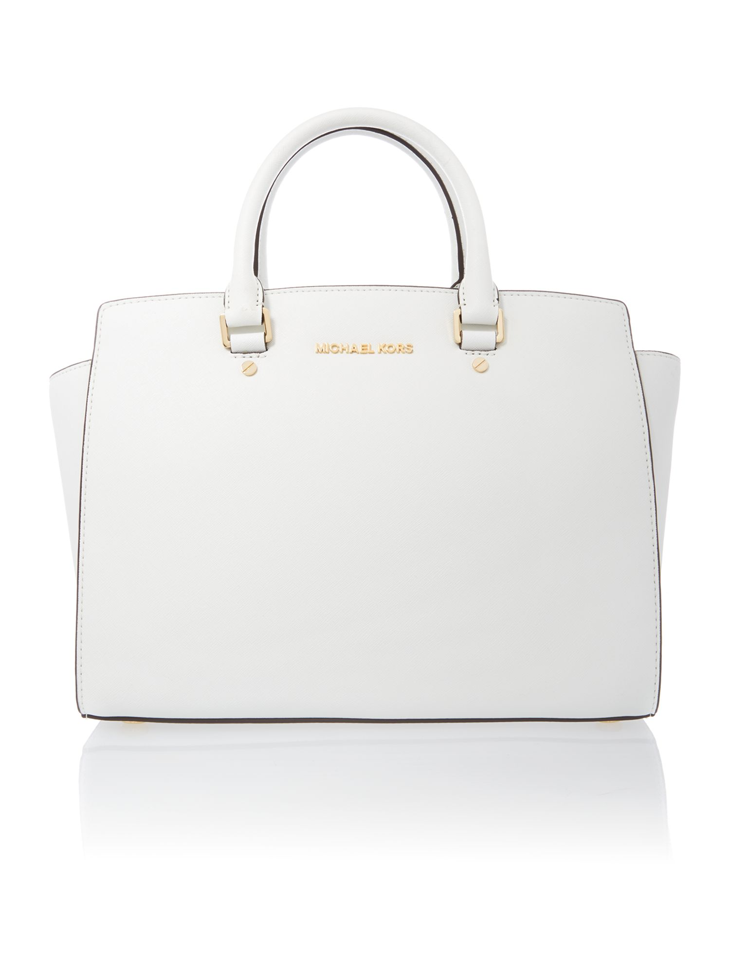 Selma white tote bag