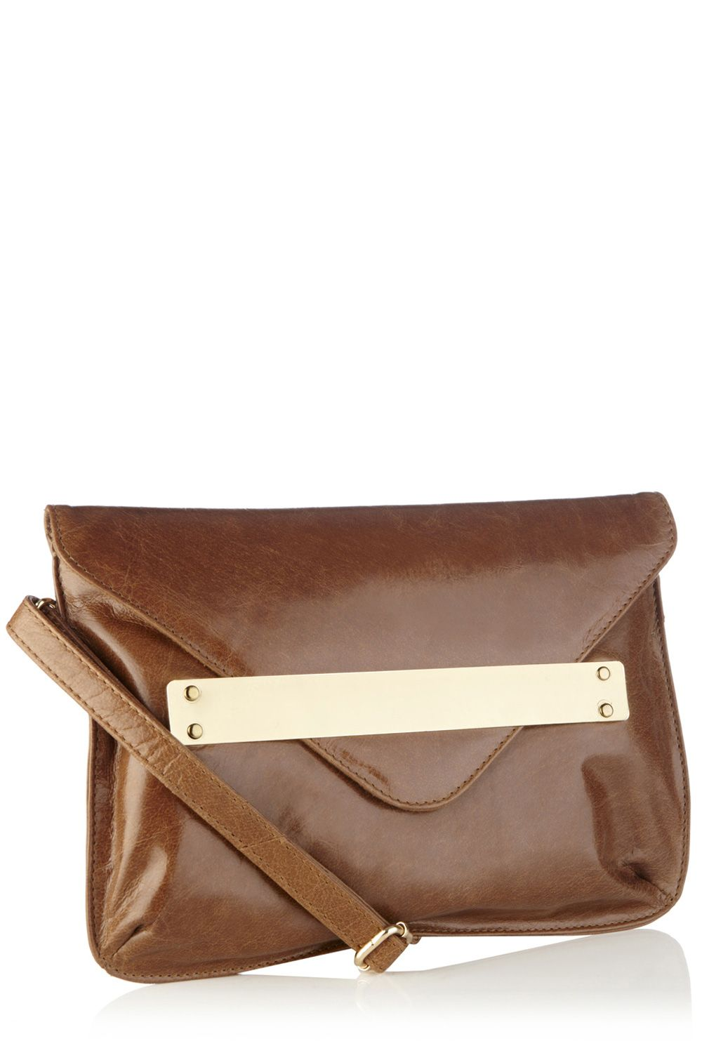 Leather bar clutch bag