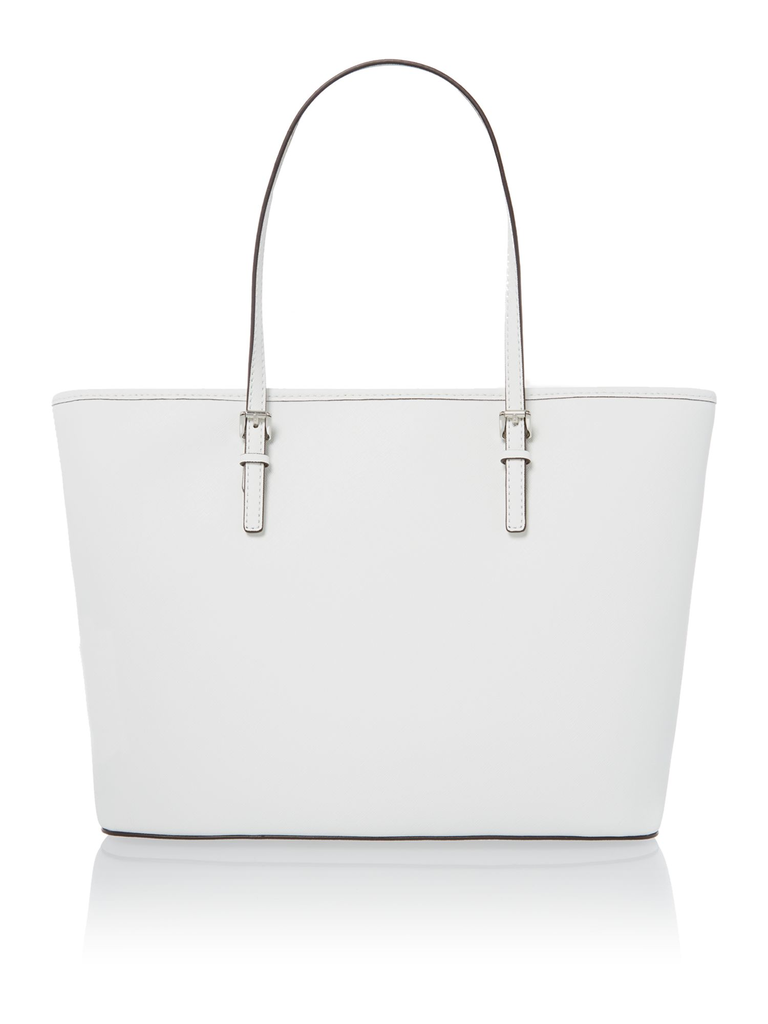 Jet Set Travel white tote bag