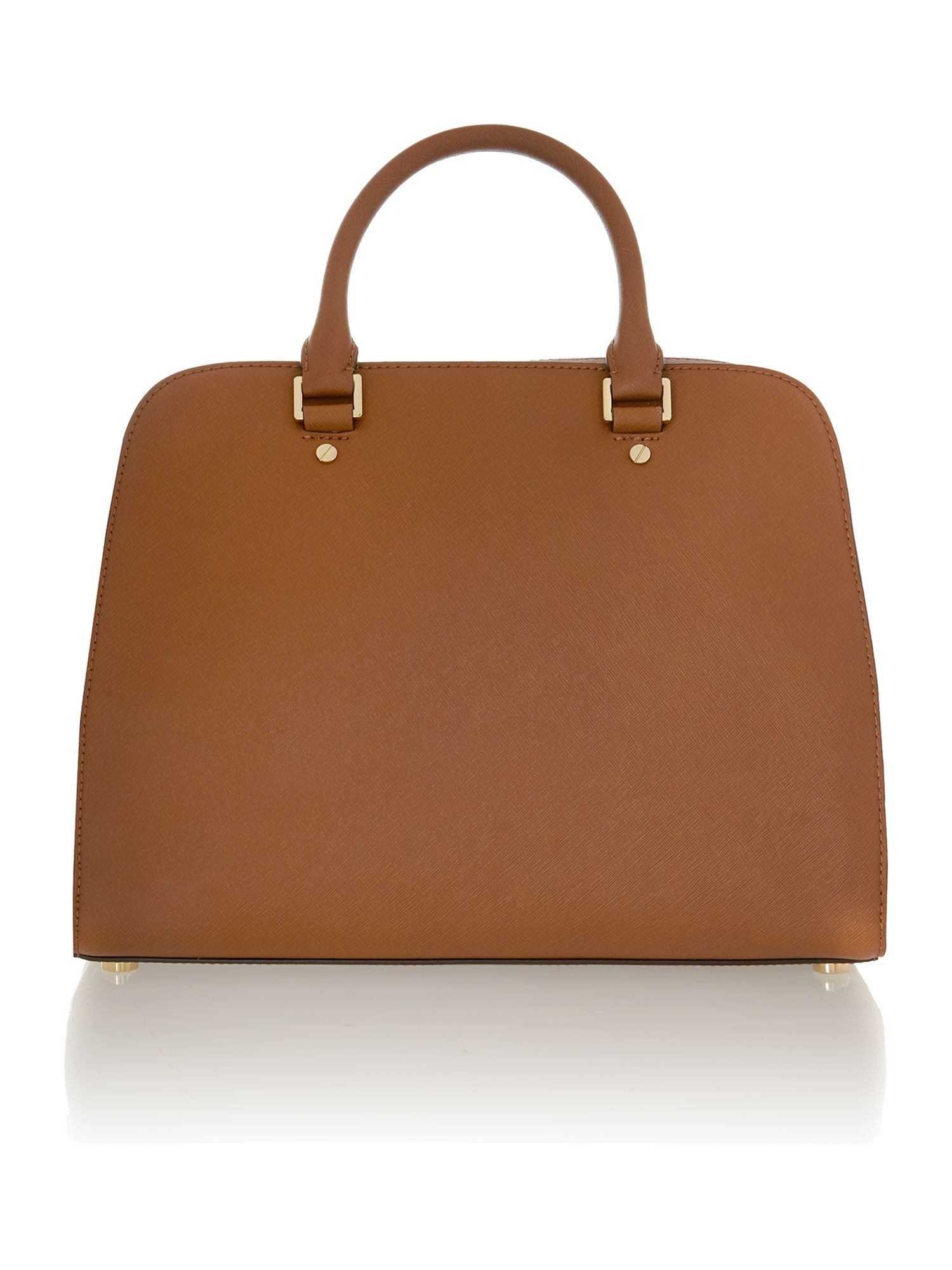 Jet Set Travel tan tote bag