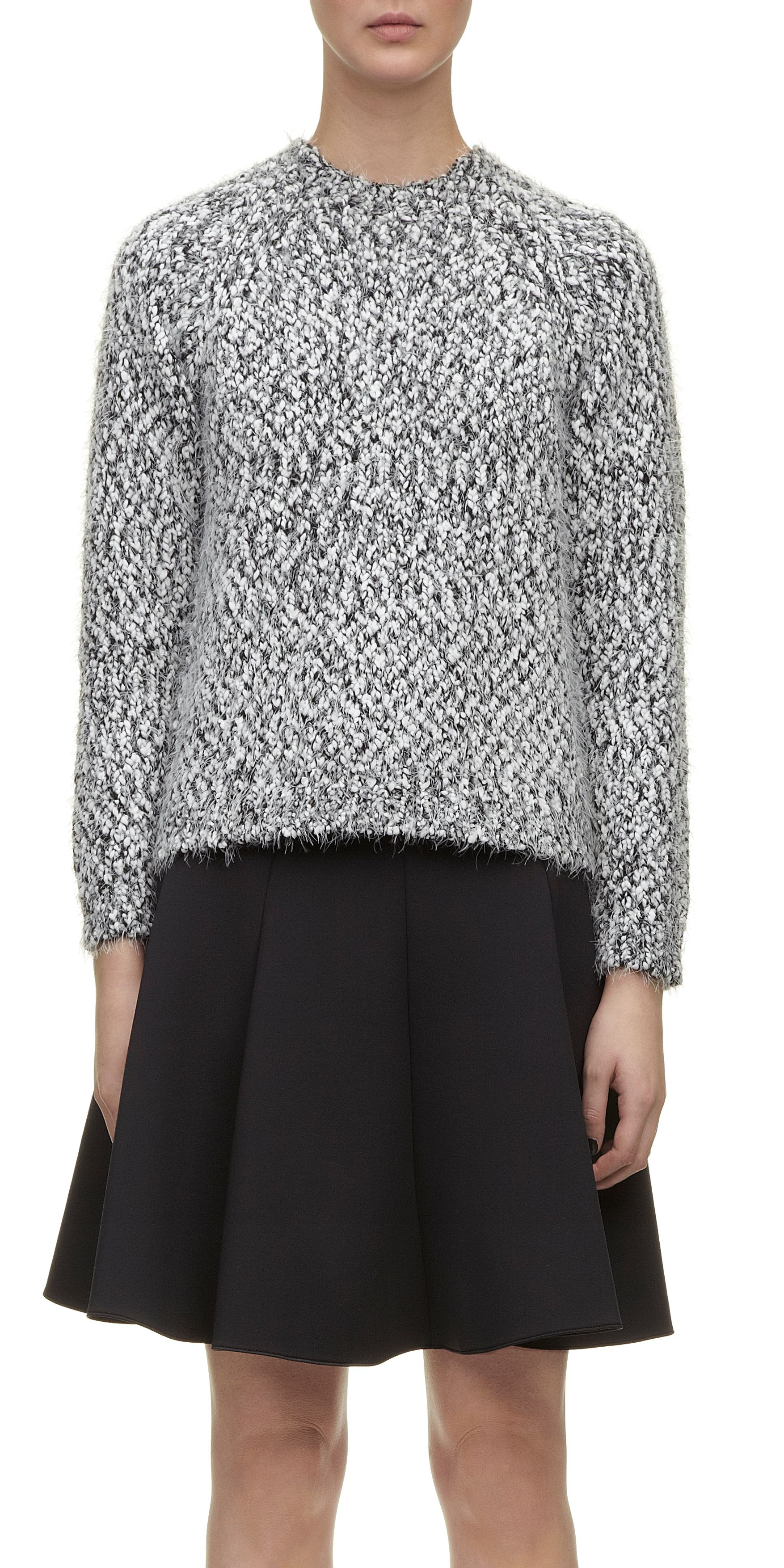 Assisi Monochrome Eyelash Knit Jumper