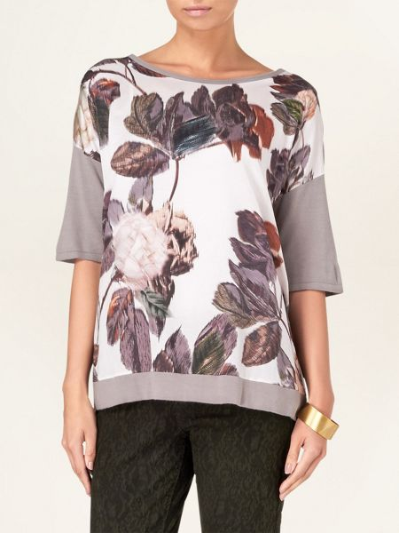 Phase Eight Rowan rose print knit jumper