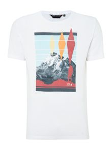 mountain view graphic tee