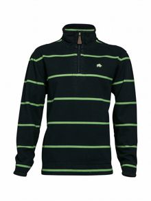 Raging Bull Big and Tall Stripe quarter zip neck hoodie