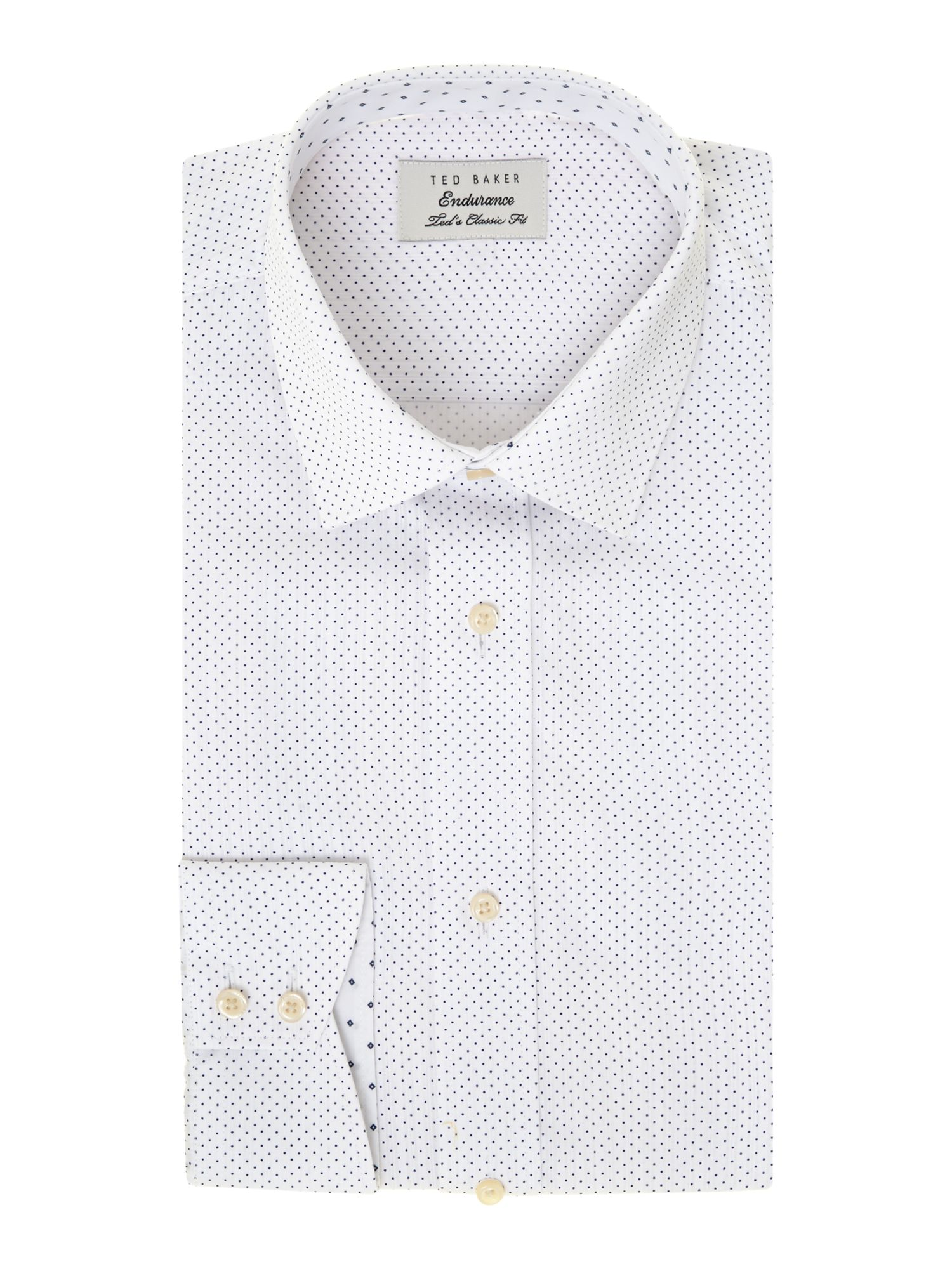 Nunton regular fit stripe and dot shirt