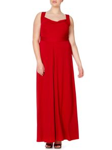 Anna Scholz Plus Size Sleeveless maxi dress