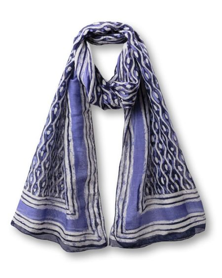 East Indigo pattern scarf