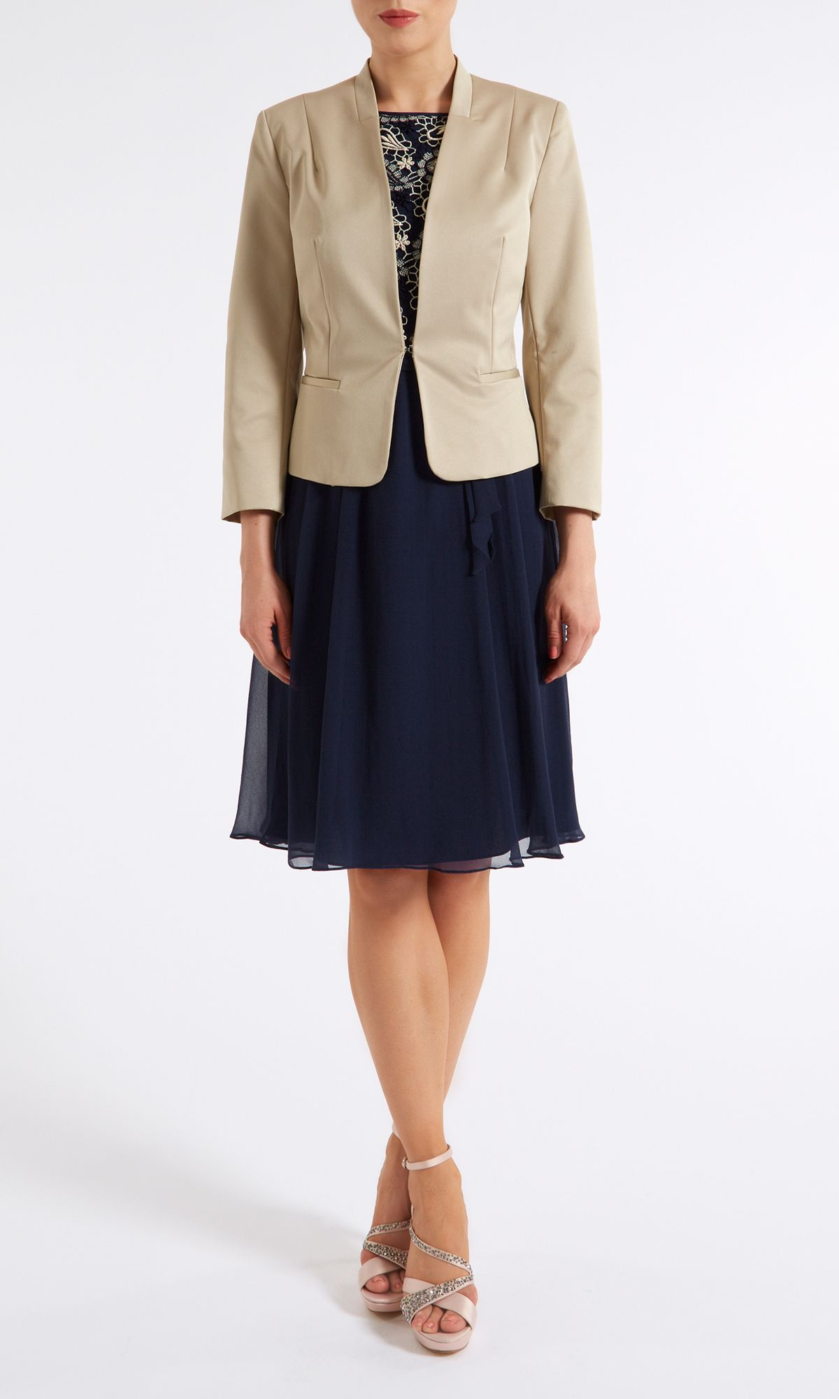 Colour block occasion jacket