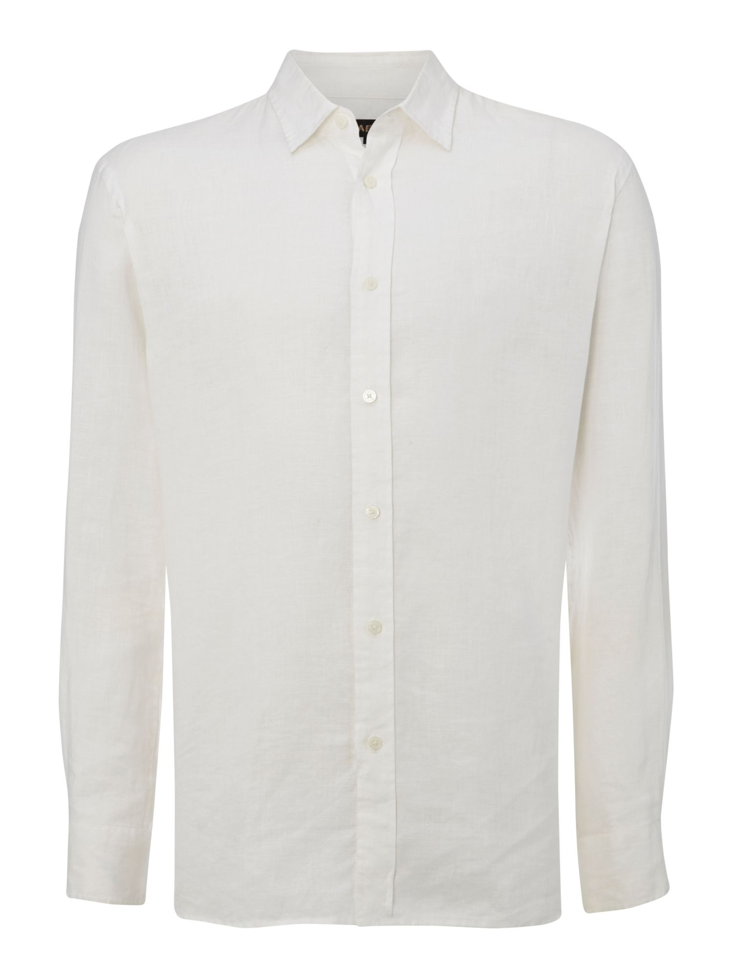 Linen long sleeve classic collar shirt