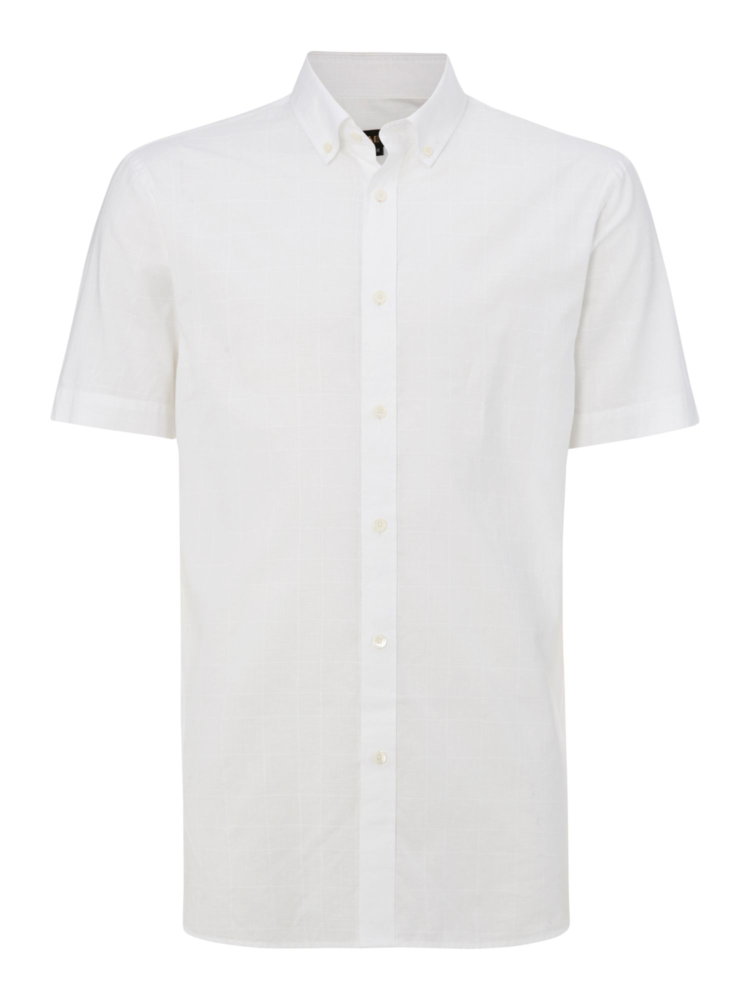 Dobby short sleeve classic collar shirt