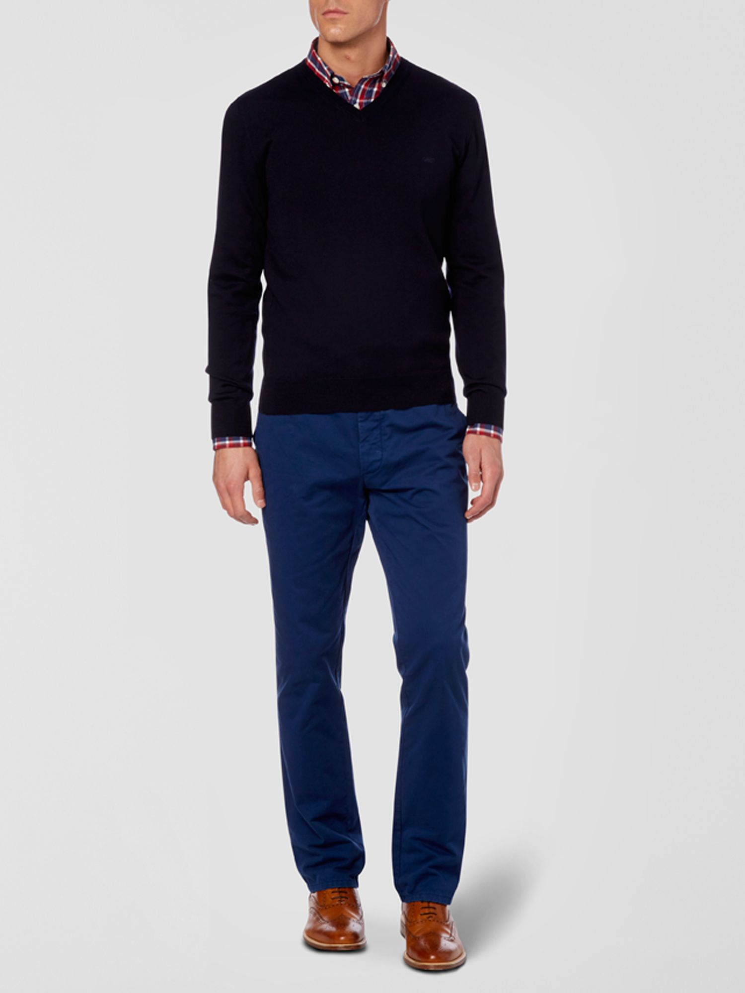 Twill casual chino trousers